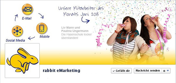 rabbits Facebook Fanpage - Social Media Know how live und in Farbe