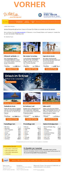E-Mail Newsletter Re-Design Optimierung