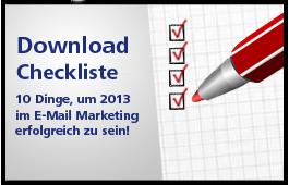 10 Dinge, um 2013 im E-Mail Marketing erfolgreich zu sein!