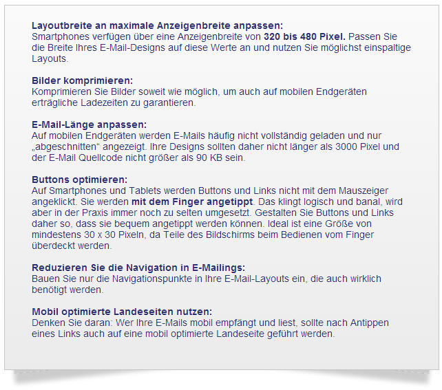 E-Mail Marketing Services - einige Design-Tipps