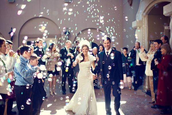 burbujas para boda