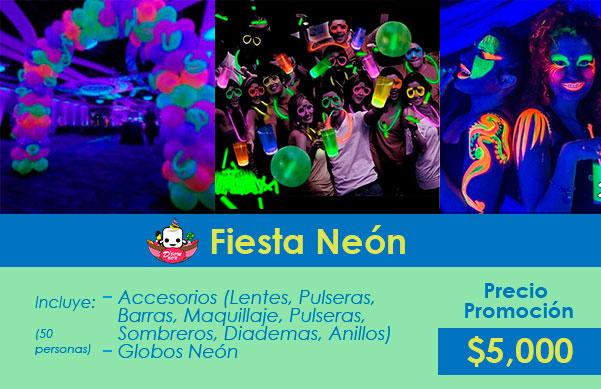 decoración fiestas neon cdmx