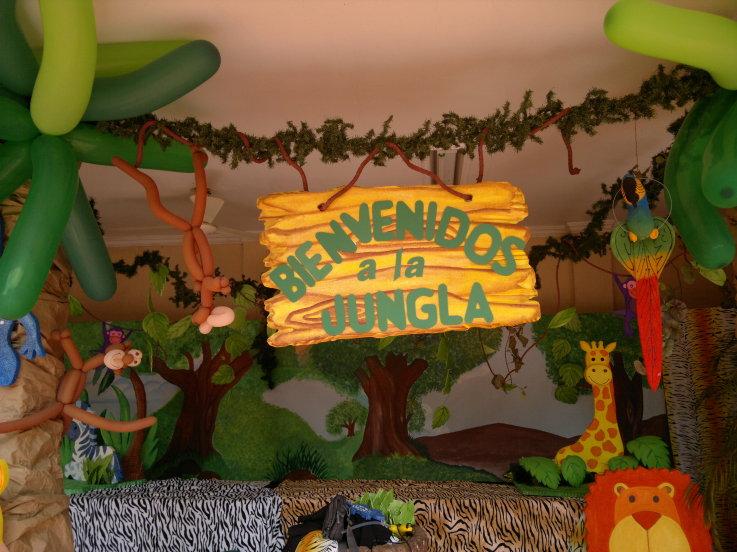 fiesta infantil animales de la selva