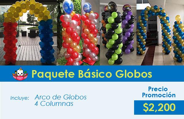 figuras básicas de decoración de globos