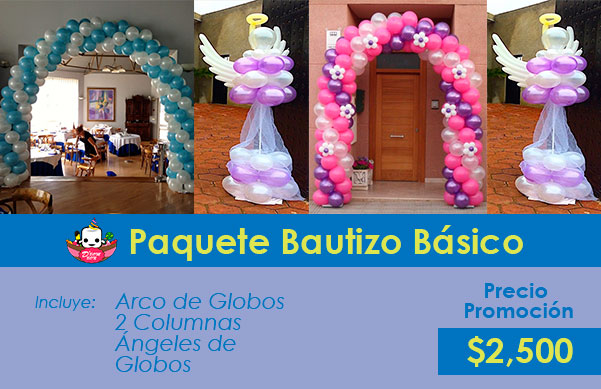 decoración bautizo df