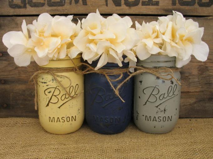 decoración de mason jars