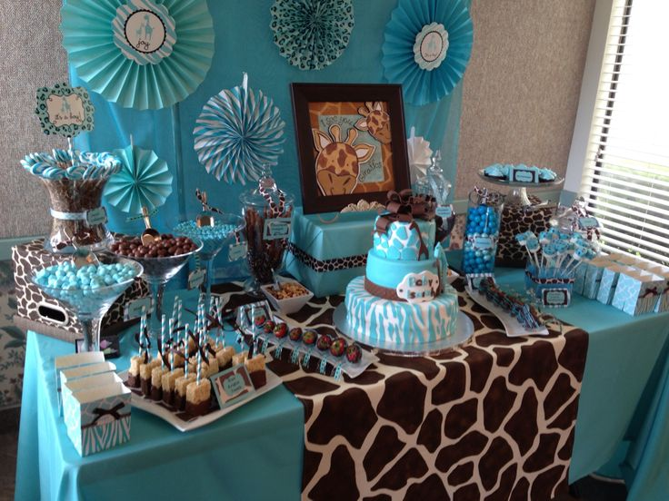 decoración mesa de dulces para baby shower