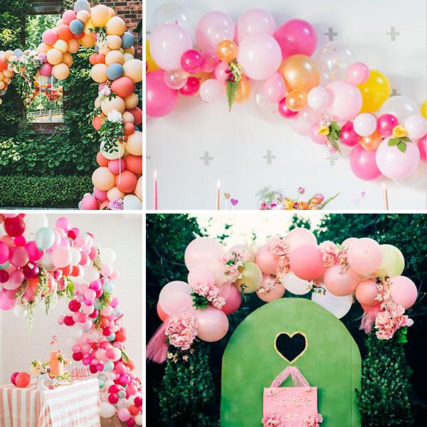 decoración guía de flores y globos