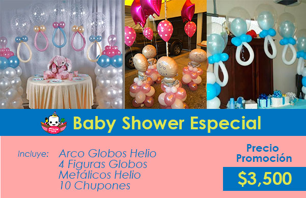 decoración baby shower df