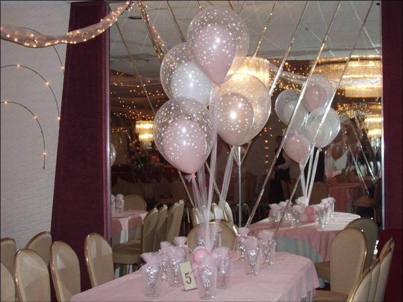 Centros de mesa con globos de helio para boda decoracion - Decoracion bodas con globos ...