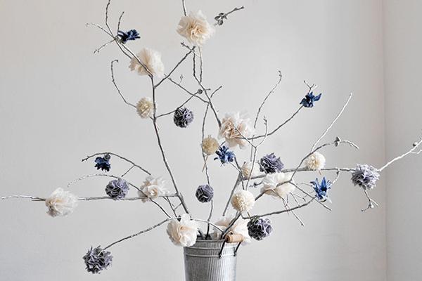 decoración con ramas 2016