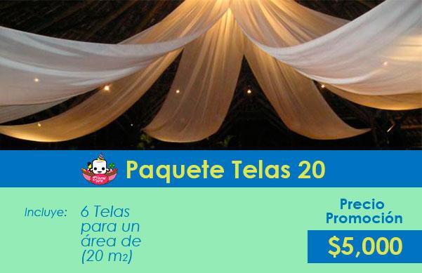 decoracion con telas para bodas