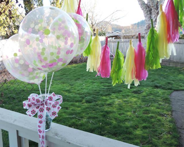 globos transparentes con confeti