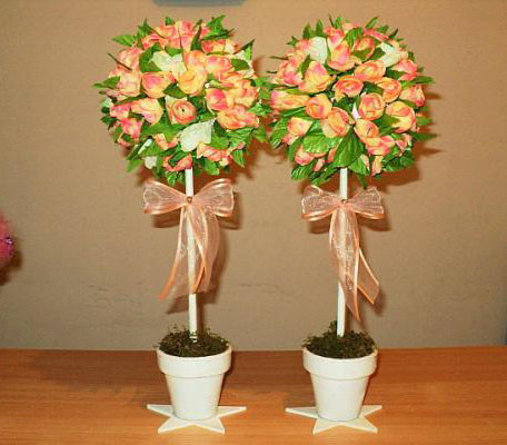 topiario flores natulares