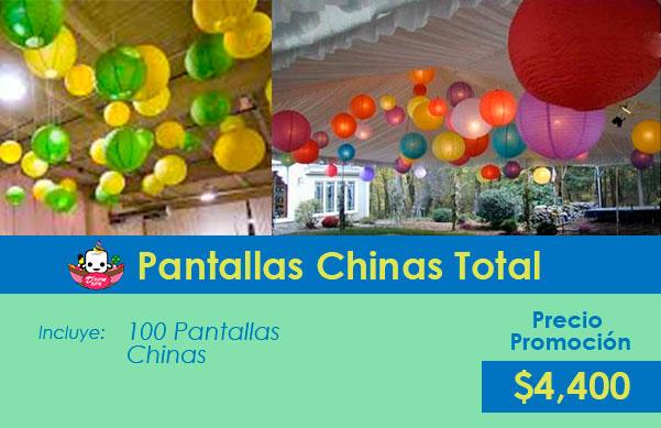 pantallas chinas para fiestas