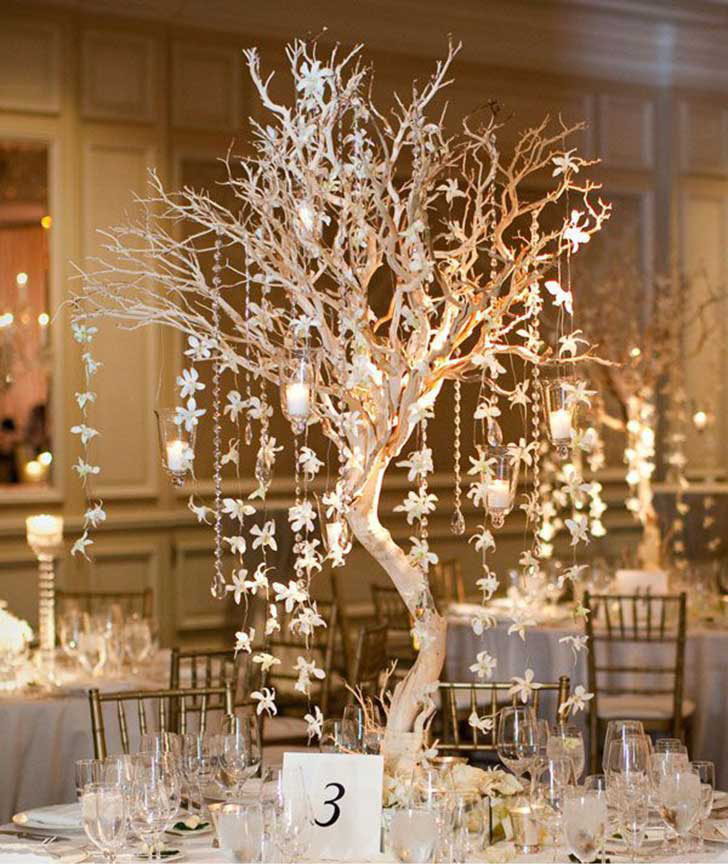 arboles iluminados para boda