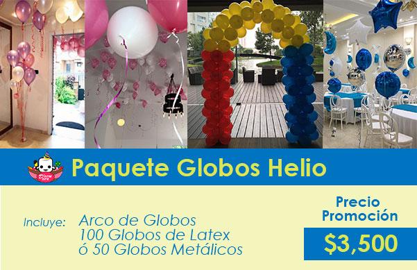globos con helio para fiesta
