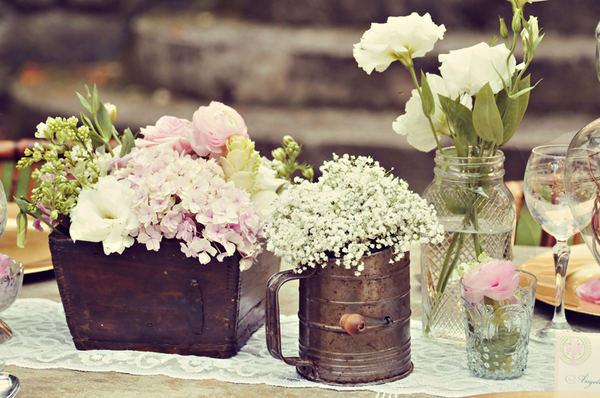 decoración flores vintage