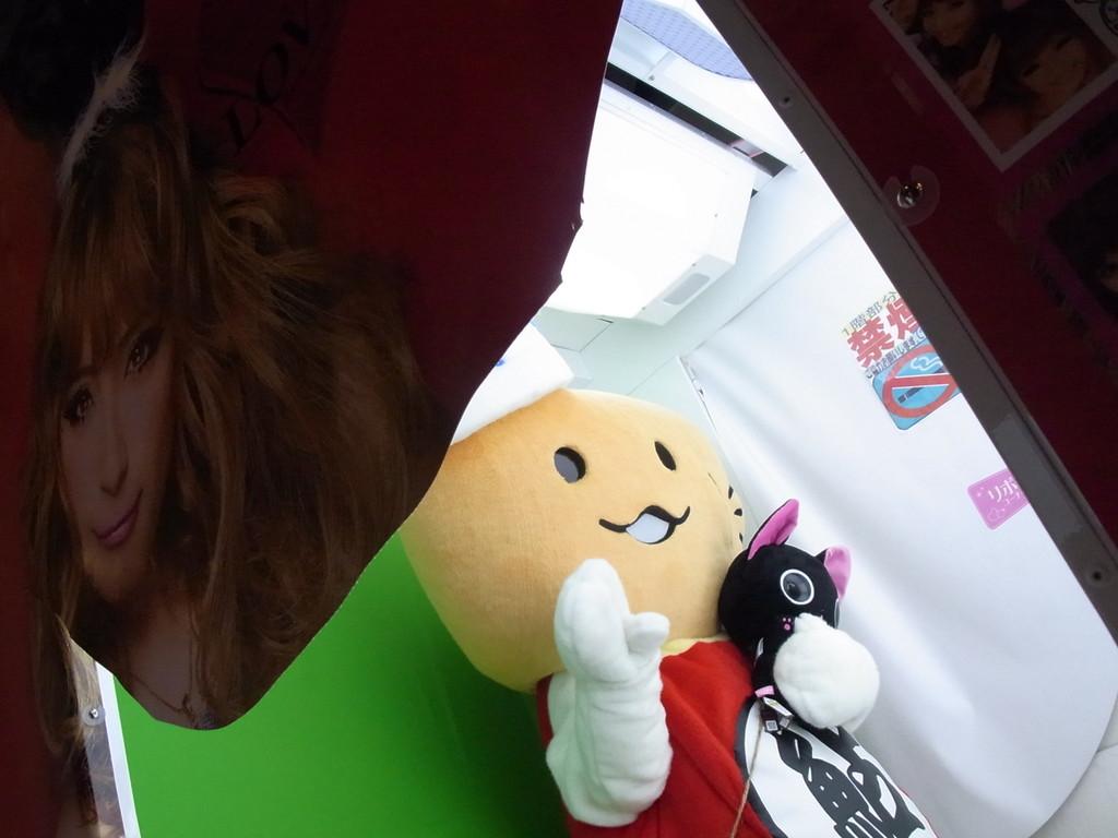 でも、ねこちゃんのぬいぐるみと、プリクラを撮ったよ!