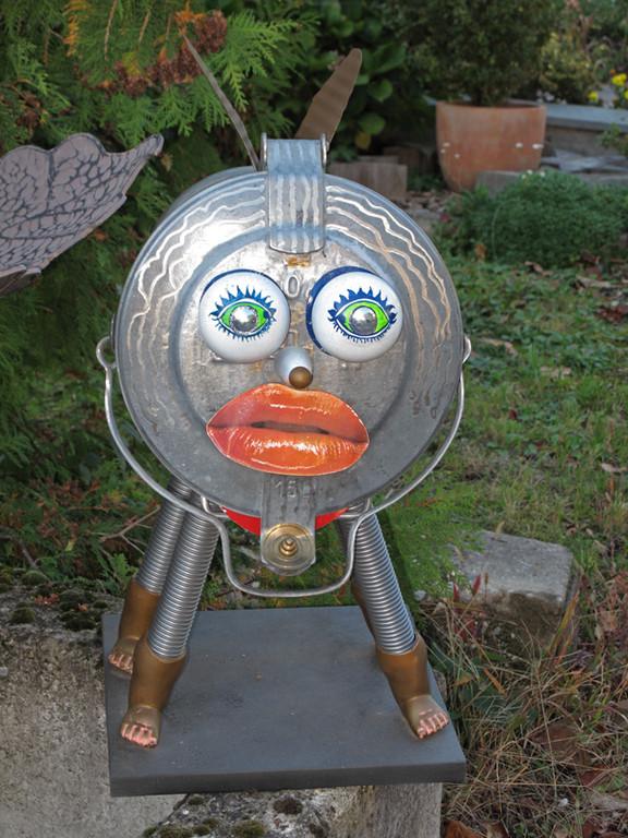 Und da waren noch einige Skulpturen eines Künstlers hier in Rheinau, lustige und spezielle Dinge