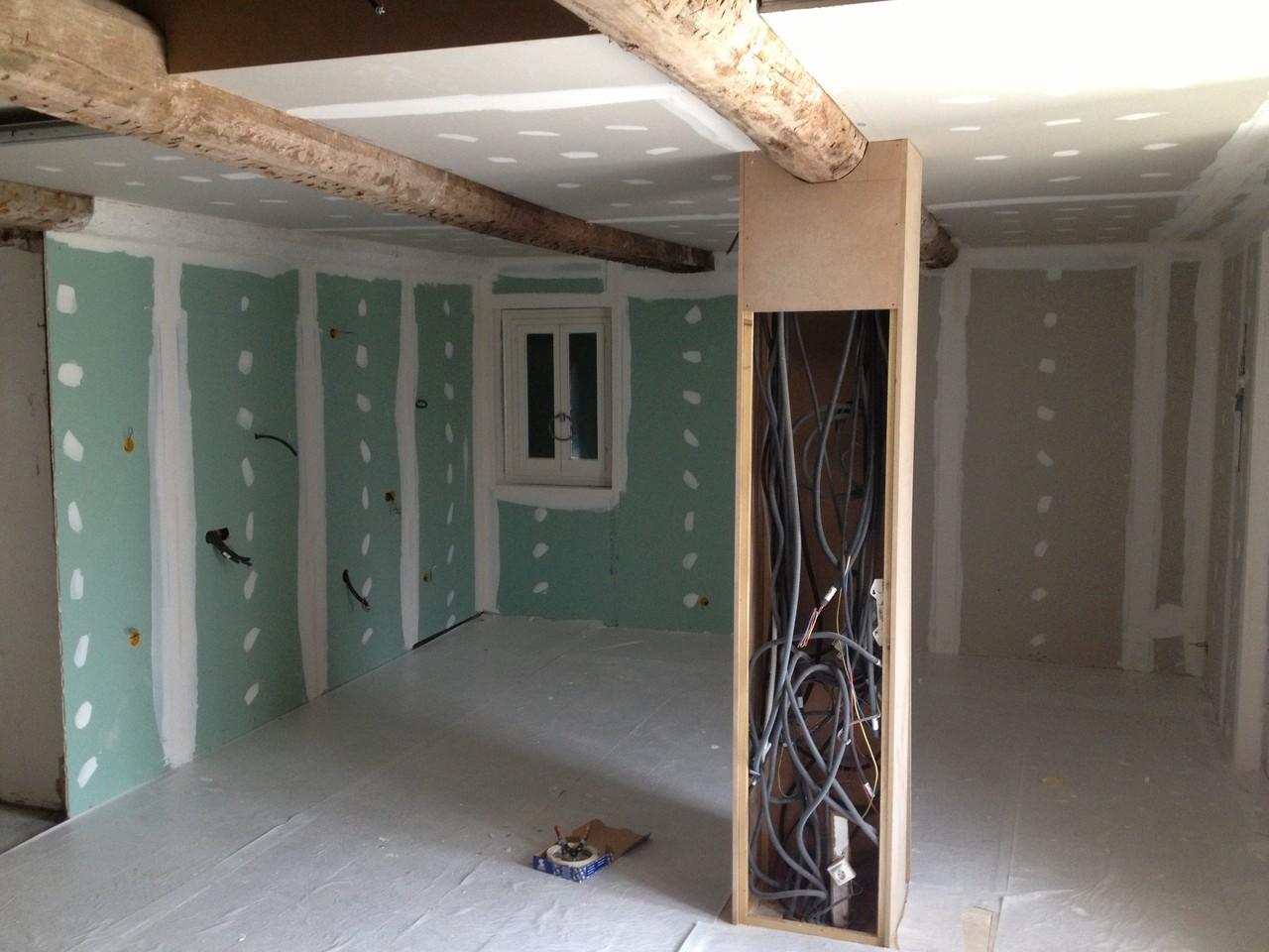 renovation  et isolation complète d'une cuisine