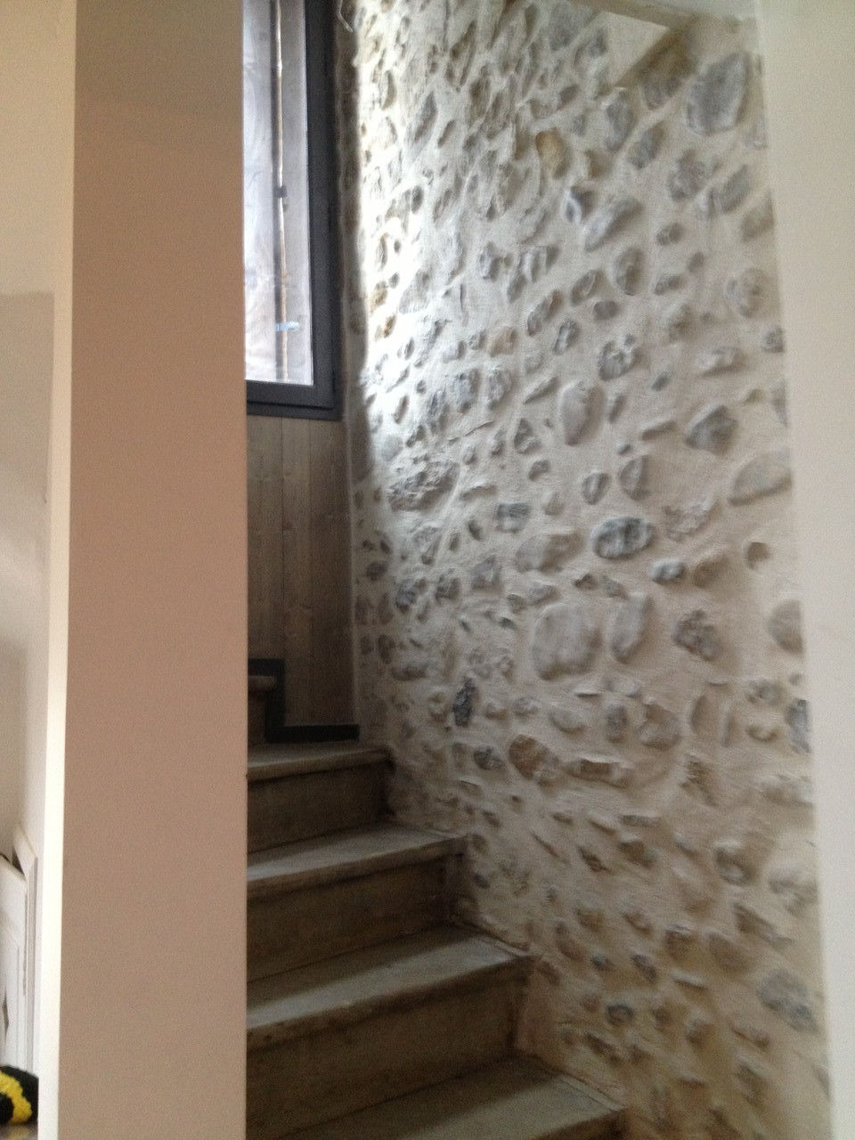 Renovation d'une montée d'escalier