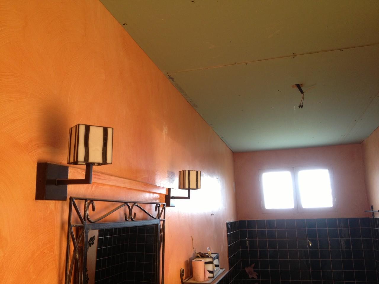 Rénovation d'un plafond de salle de bain
