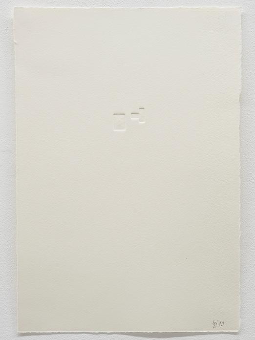 Beate Gärtner | Blocks II |  2013 | Prägedruck auf Büttenpapier | 38,5x26,5cm |  Foto@Bracht Fotografie