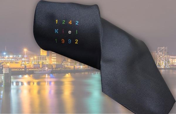 Krawatte mit Logo