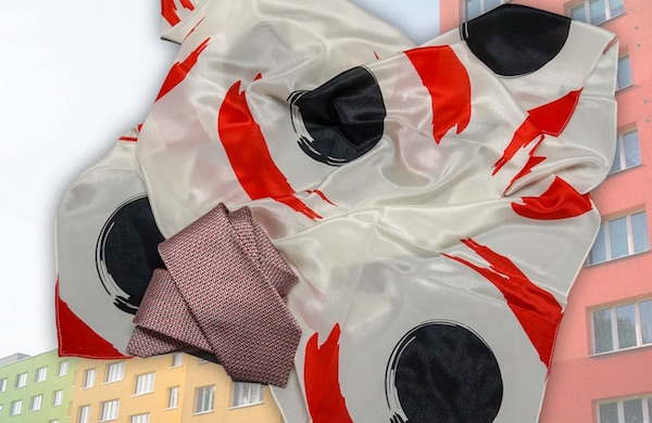 Krawatte und Tuch CI Design