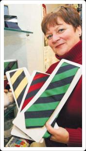 Pressespiegel: Krefeldkrawatte, Krawatte mit Krefeldwappen, Streifenkrawatte mit Logo, gewebt oder gedruckt von FELD Textil GmbH