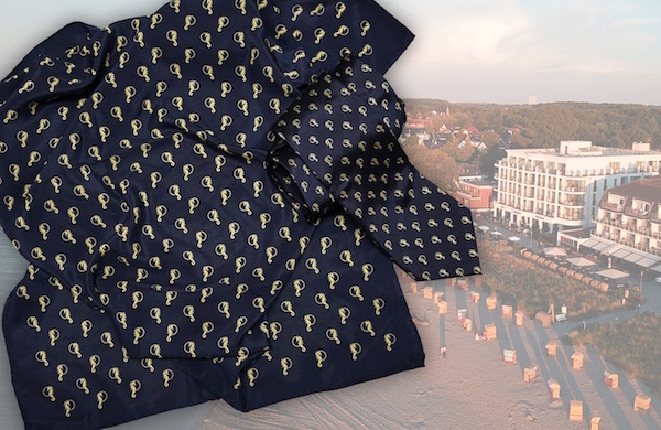 Krawatte und Tuch Berufsbekleidung