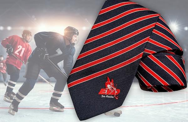 Krawatte mit Vereinswappen