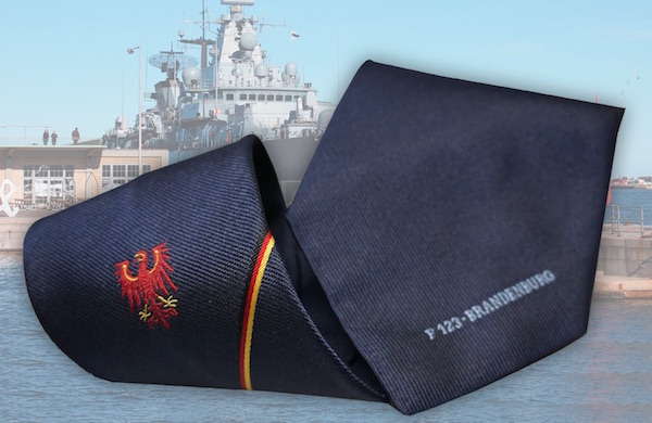 Krawatte mit Wappen