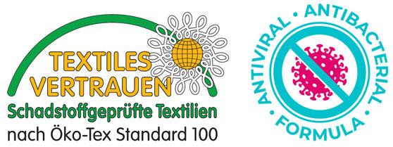 Mundbedeckung Mundmaske Nasenmaske Behelfsmaske Behelfsmundschutz Gesichtsmaske Antimikrobiell ausgerüstet und OEKO-TEX zertifiziert von Feld Textil GmbH Krefeld