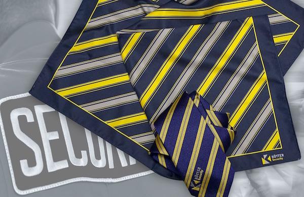 Krawatte und Tuch individuell gestaltet
