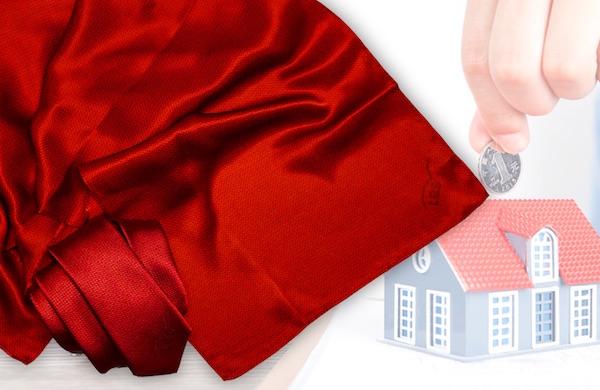 Krawatte und Tuch gleiches Design