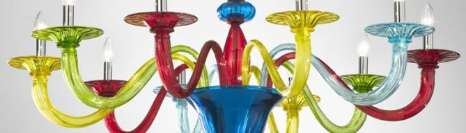 Colorful lampadari in vetro di murano moderni design colorati fabbrica lampadari fatti in italia - Lampadari colorati design ...