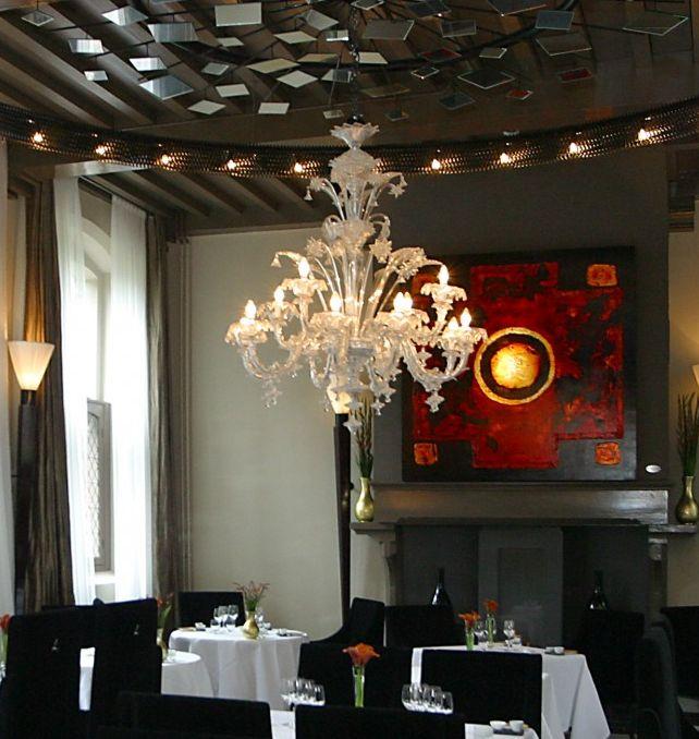 De-Librije-Restaurant-lampadario-in-vetro-di-murano