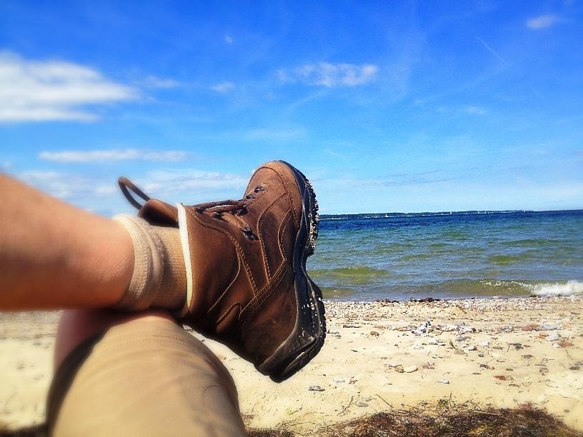 ein großer Moment des Glücks am Ostseestrand bei Eckernförde