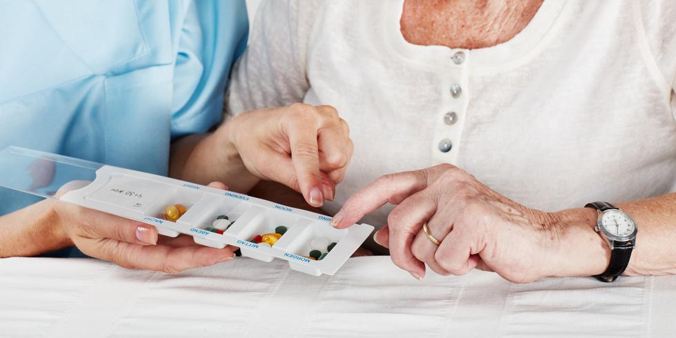 Medikamente herrichten, Insuline, Wundversorgung, Injektionen, Körperhygiene, Mobilität. Pflegegrad