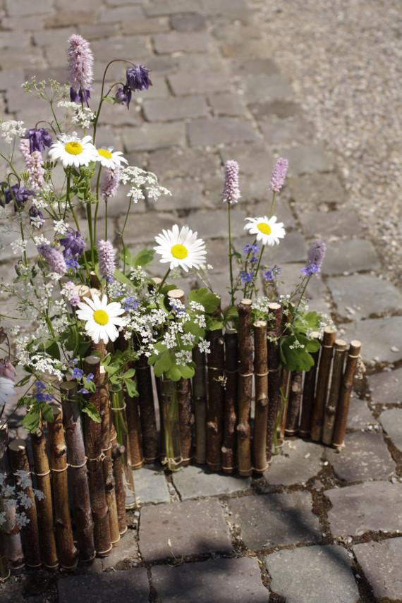 Blütenträume mit Birkenpalisade    Foto:Ahornblatt