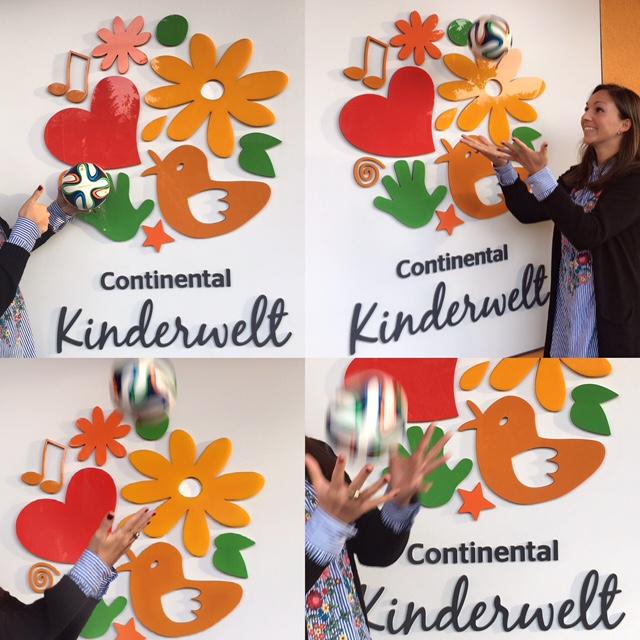 Rebekka Haring von der Conti-Kinderwelt ist glücklich über die Zusammenarbeit mit der Ballschule. Wir übrigens auch!