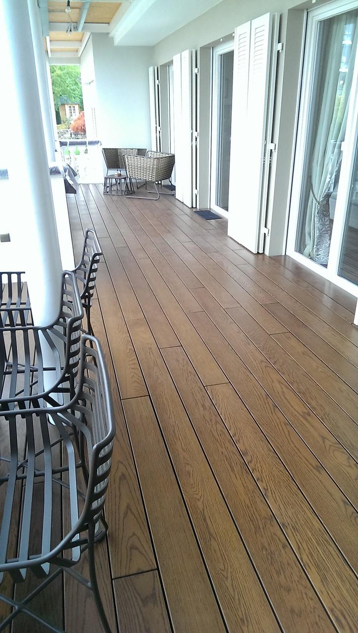 Sanierung einer Dachterrasse mit Echtholzdielen 10Jahre Garantie - Mario Bogisch Bausysteme