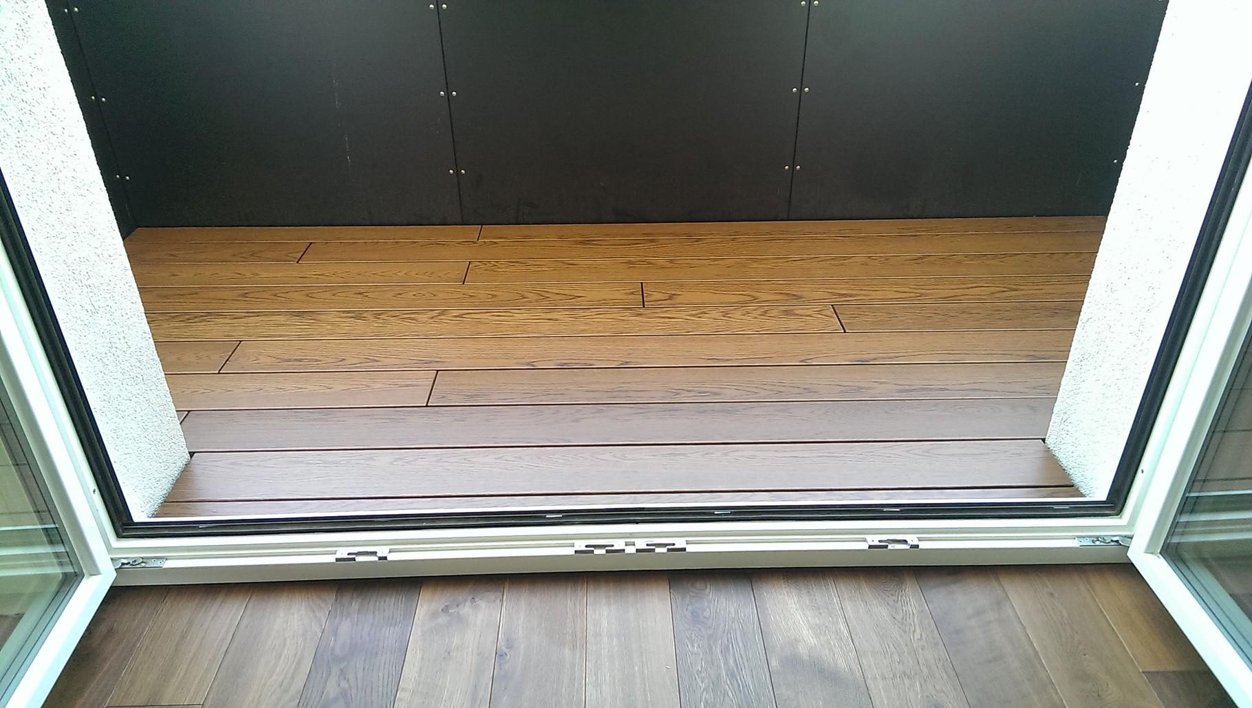 Sanierung eines Balkons mit Echtholzdielen 10Jahre Garantie, wilde Verlegung  - Mario Bogisch Bausysteme