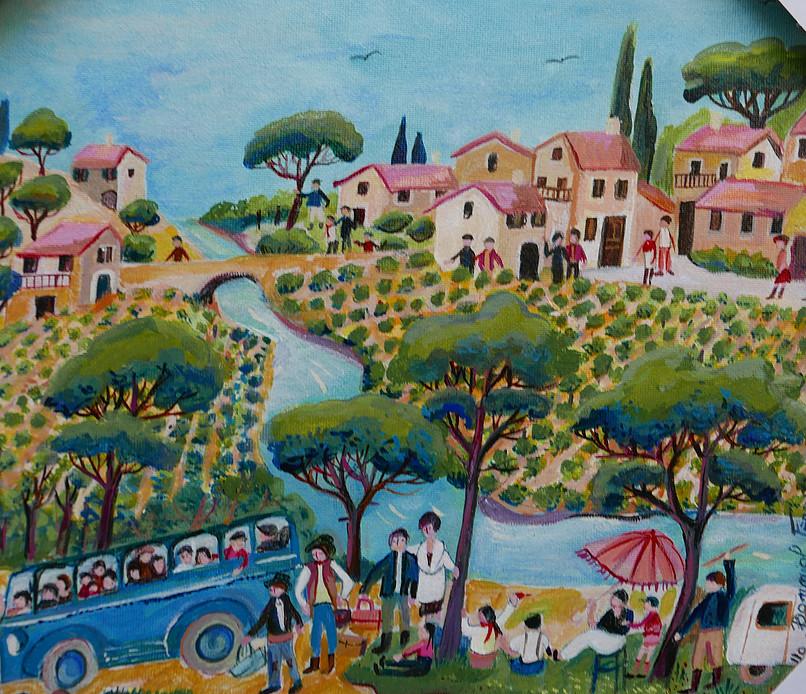 La ballade en Provence - 30x30cm