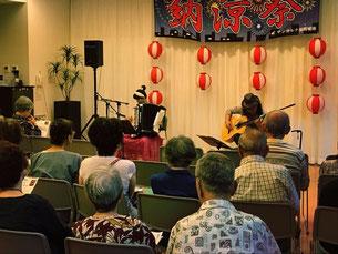 福岡市内の老人ホーム「納涼祭」にて