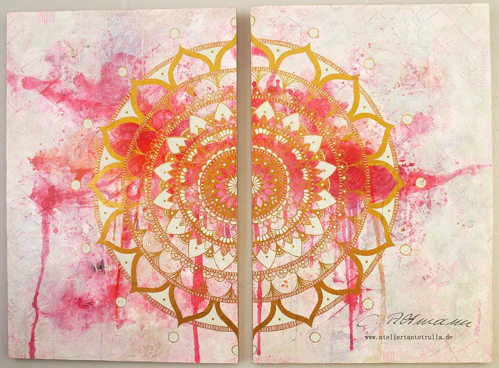 Mandala-painting by Conni Altmann, www.ateliertantetrulla.de