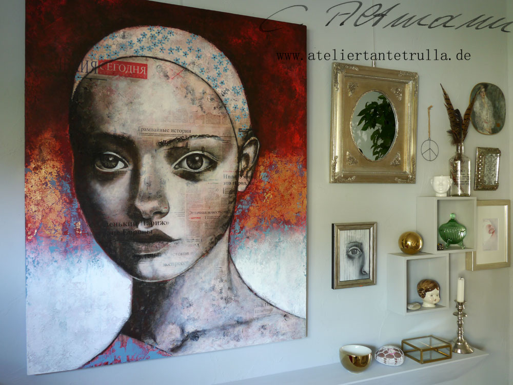 Mixed Media Gemälde von Conni Altmann, www.ateliertantetrulla.de