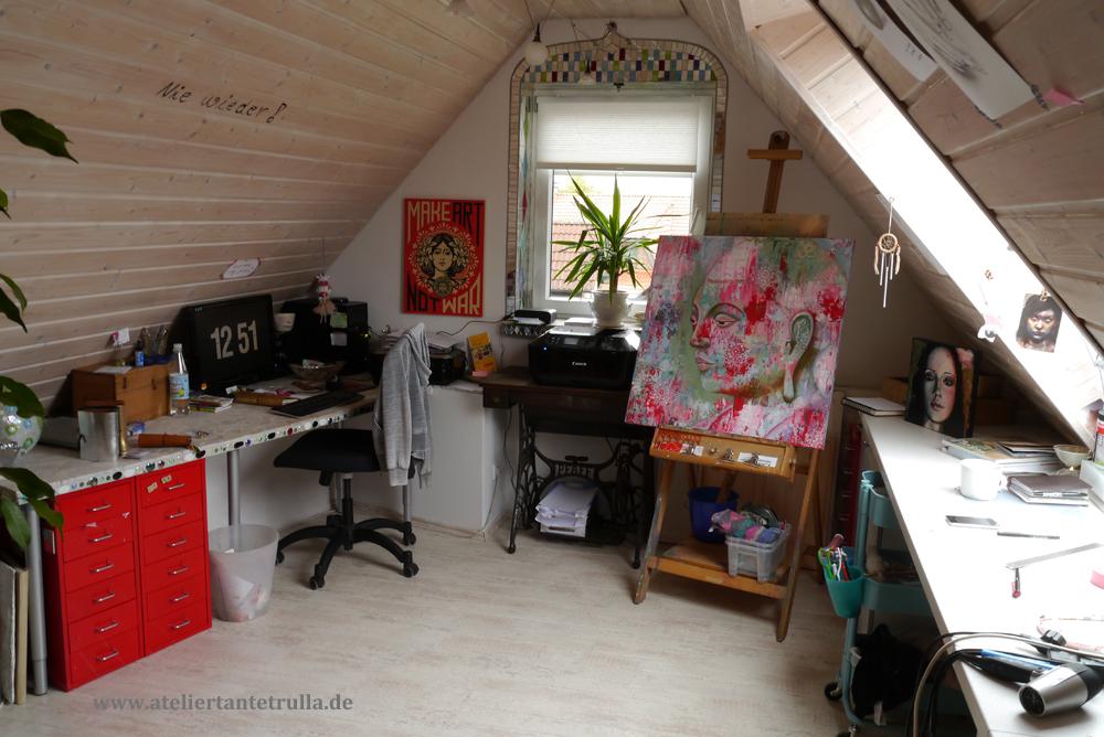 Atelier auf dem Dachboden